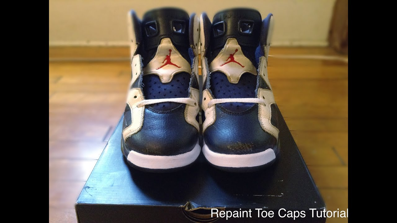 c6d2f4841d4 Repaint Scuffed Toe Caps Tutorial (Ft.Jordan 6 Olympic) - YouTube