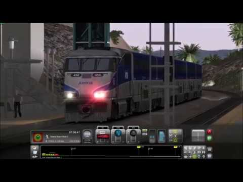 Train Simulator - [2]-  Pacific Surfliner 565 at Solana Beach, Meet. |
