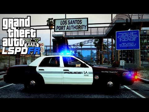 GTA V LSPDFR #85 Los Angeles Port Police Patrol