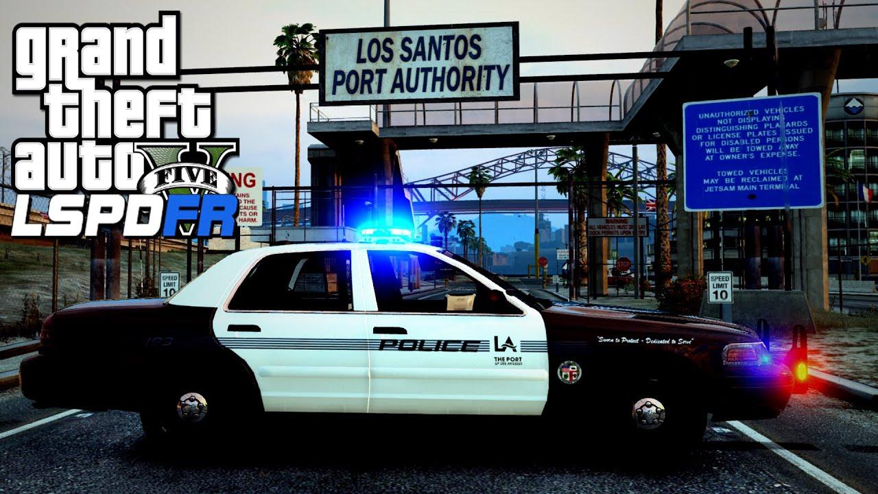 Gta v lspdfr 85 los angeles port police patrol youtube for La port police