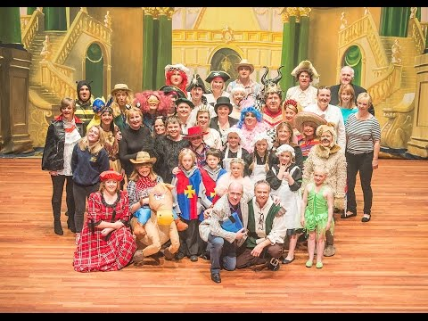27up (part 1) Pantomime Sleeping Beauty at Queen's Hall Arts Centre Hexham Jan 2016