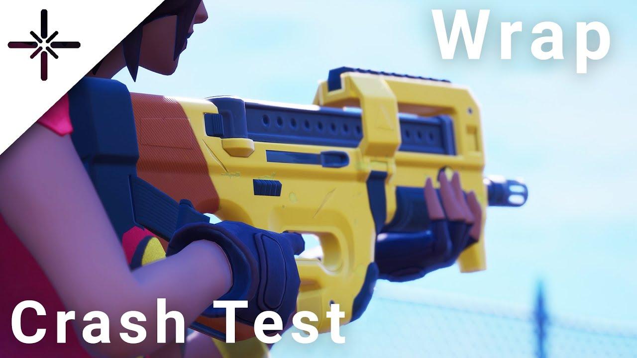 NEW Fortnite Crash Test Wrap Gameplay 4K