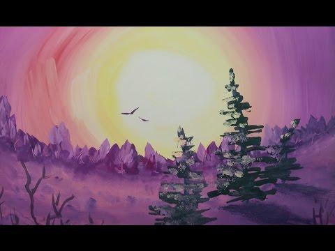 Как нарисовать закат? [Картина за 3 минуты!]