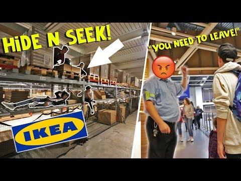 ULTIMATE HIDE AND SEEK IN IKEA!! *BANNED*