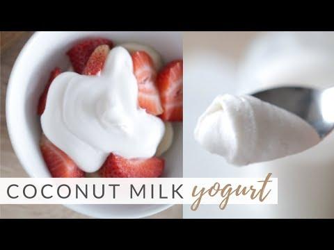 How to Make Homemade Coconut Yogurt | easy 2-ingredient recipe