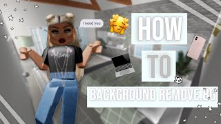 (Easy) How To background remove.bg Roblox | Angelbunnyi