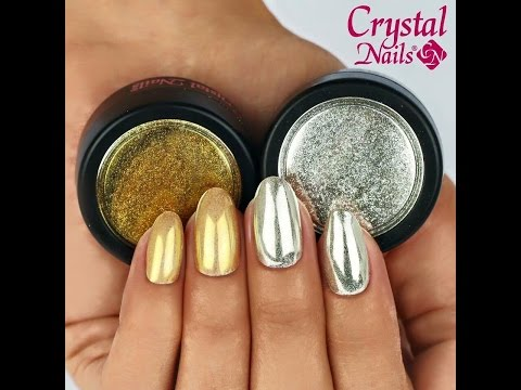 Gold and Silver Chrome Nails with ChroMirror Chrome Pigment Powders - Step-By-Step Video Tutorial