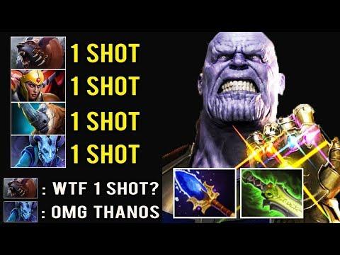 THANOS MID IS BACK 1 Shot Kill Most Crazy Def Comeback by Afoninje Imba Dota 2