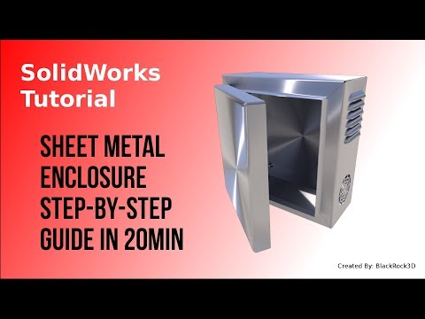 SolidWorks Sheet Metal Tutorial - Electrical Enclosure (STEP-BY-STEP)
