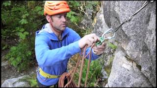 How to belay on a Multi pitch climb - Top Down Belay