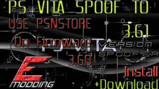 PS Vita : Spoof To 3.61  Use The PSN Store On  3.60