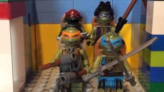 teenage mutant ninja turtles elevator scene in lego