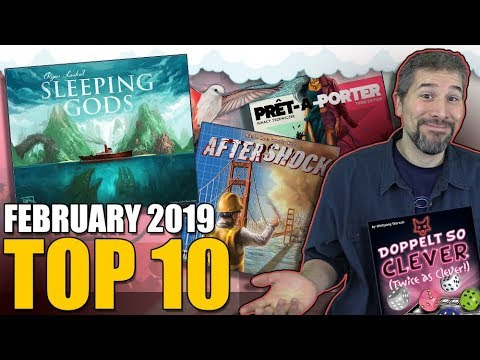 Top 10 Hottest Board Games February 2019 Youtube