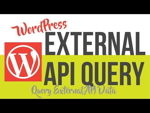 #2 Query External APIs Using WordPress wp_remote get() function - WordPress External API Plugin
