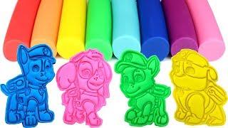 Play-Doh Paw Patrol Molds & Surprise Toys Marshall Chase Zuma Skye Rocky Rubble