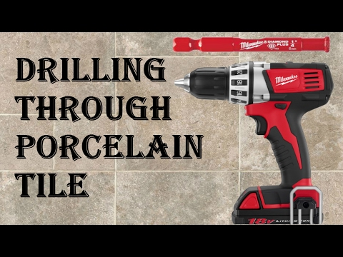 How to Drill Through Porcelain Tile - Easy Mode