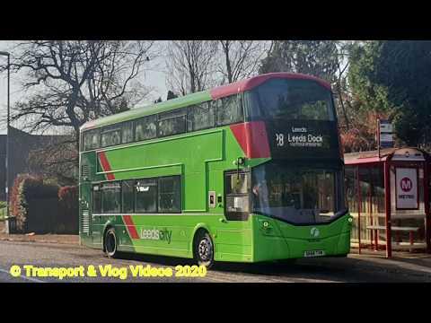 Route 28 First Leeds Daimler OM934 Wright Streetdeck 35547 (SK68 TVM)