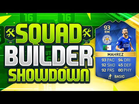 FIFA 16 SQUAD BUILDER SHOWDOWN!!! TEAM OF THE SEASON MAHREZ!!! PFA Player Of The Year Riyad Mahrez