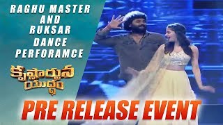Raghu Master and Ruksar Dance Perforamce for I Wanna Fly Song Krishnarjuna Yudham