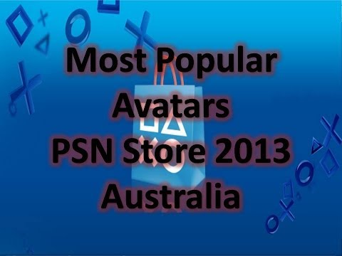 Most Popular Avatars PSN Store 2013 Australia