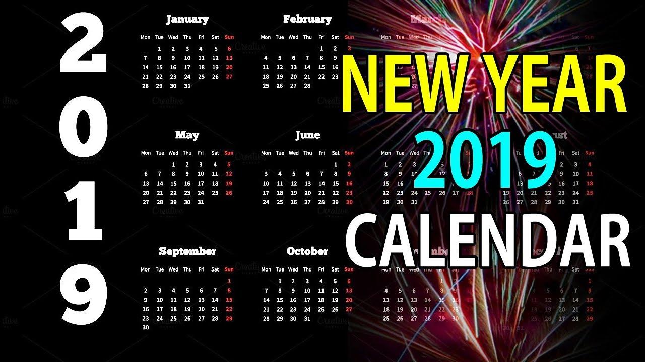 New Year Calendar 2019 New year calendar 2019 | Happy New Year 2019 | New Calendar | 2019