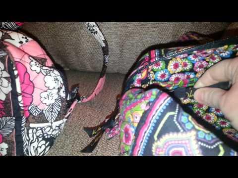 Vera Bradley Old style vs New style 100 handbag