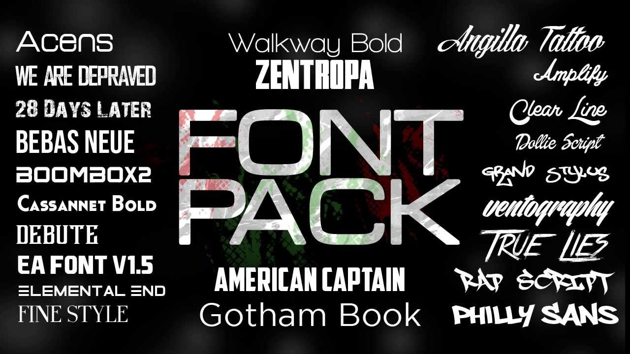 [PACK] Font Pack Maxresdefault