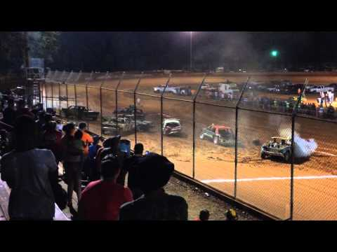 Demo Derby at Harris Speedway Forest City, NC July 5 2015