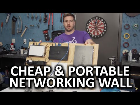 DIY Ghetto Networking Wall - A renter's solution!