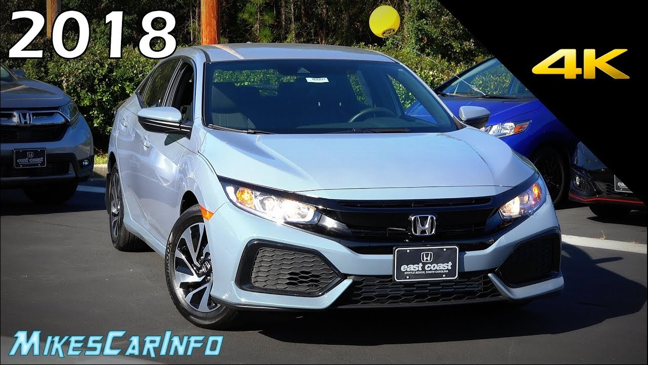 2018 honda lx.  honda 2018 honda civic lx  detailed look in 4k for honda lx