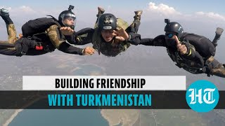 Watch: Indian Army trains Turkmenistan Special Forces in Combat Free Fall