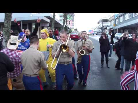 Street Party: USMC Pacific Forces Party Band vs. The Teletubbies and Uncle Sam
