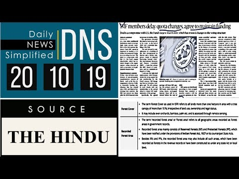 Daily News Simplified 20-10-19 (The Hindu Newspaper - Current Affairs - Analysis for UPSC/IAS Exam)