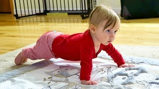 Baby Does Push-ups with Daddy!