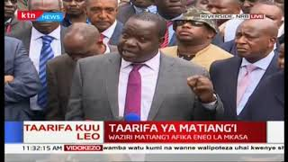 Waziri wa Usalama wa Ndani Matiang'i: 'We have been able to take out all attackers'