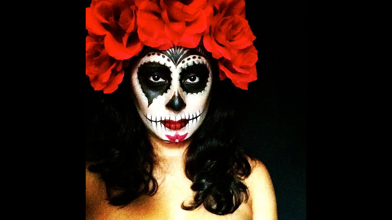 Day of the dead makeup tutorial youtube day of the dead makeup tutorial baditri Images