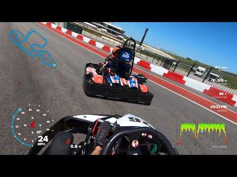COTA Karting - Carlos vs. Will (Helmet Cam)