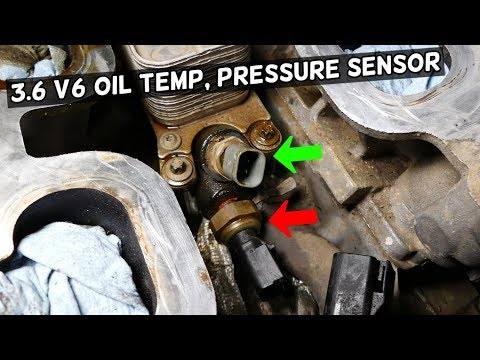DODGE CHRYSLER JEEP 3.6 PENTASTAR OIL PRESSURE SENSOR LOCATION REPLACEMENT