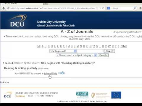 How to find an article in an Electronic Journal