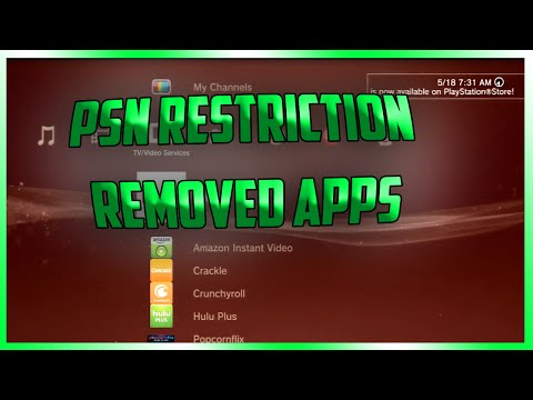 How To Remove PSN Restriction On PS3 Applications