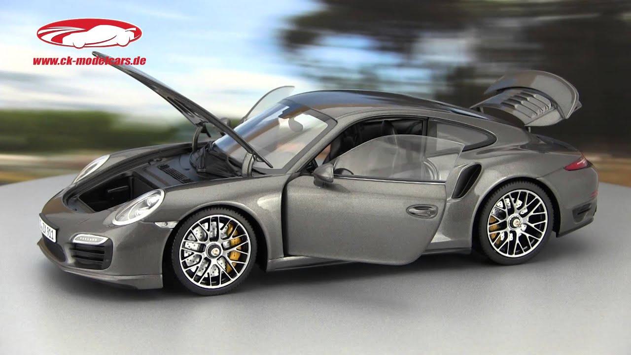 ck modelcars video porsche 911 991 turbo s achat grau metallic minichamps youtube. Black Bedroom Furniture Sets. Home Design Ideas