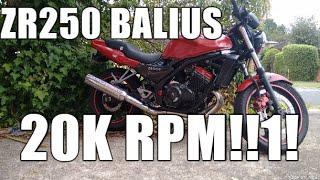 kawasaki Balius ZR250 4 cyl - Screaming Demon!!