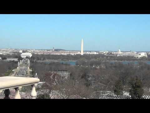 Washington DC skyline from Arlington and the Hope Diamond