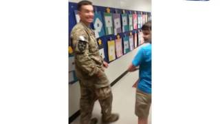 Soldier Surprises Special Needs Son at School