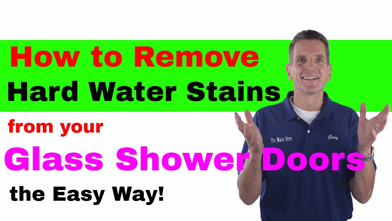 How to Remove Hard Water Stains from Your Glass Shower Doors-the ...