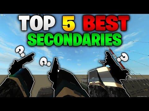 TOP 5 BEST SECONDARIES in Phantom Forces