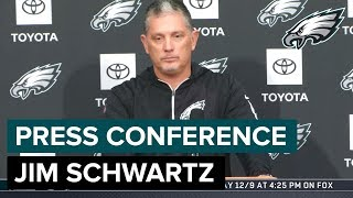 Jim Schwartz 'Zeke is One of the Best RBs in the NFL' | Eagles Press Conference
