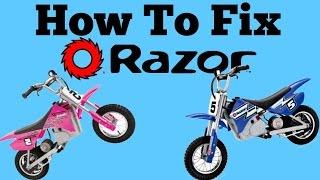 DIY HOW TO FIX RAZOR MX350 THAT DOESN T RUN