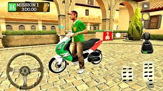 Pizza Delivery Driving Simulator #1 - Bike and Car Game Android gameplay