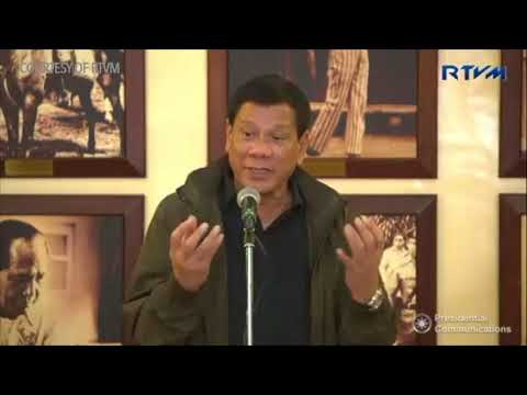 Duterte holds press conference with Malacañang Press Corps